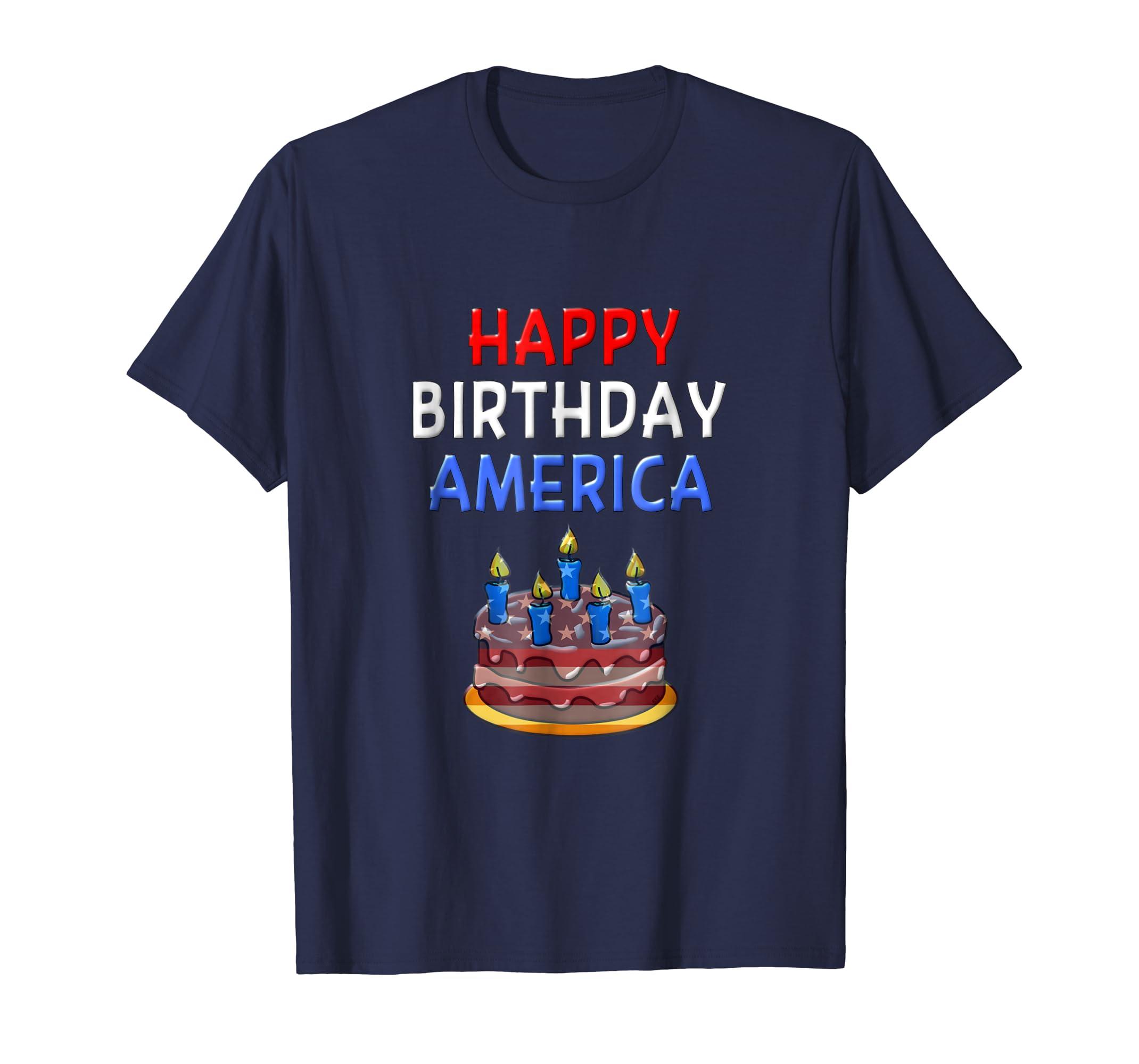 Amazon Happy Birthday America Shirt American Flag July 4th T Clothing