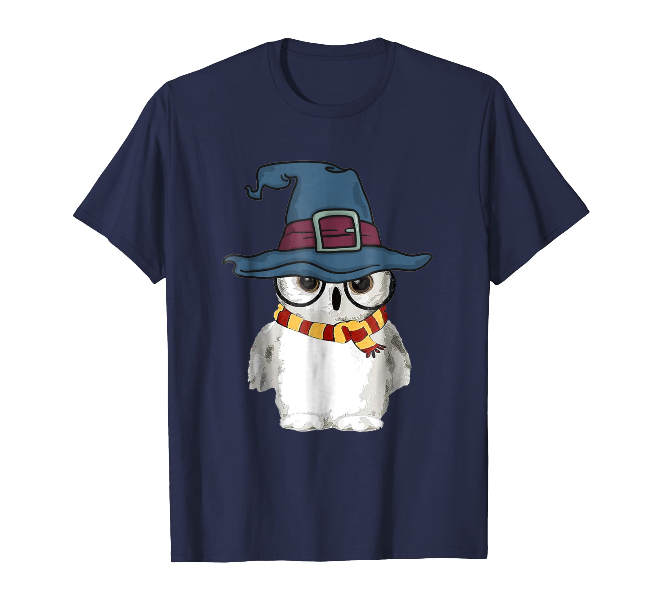 Funny Cute Owl Harry Magical Wizard Hat Potter T shirt-azvn