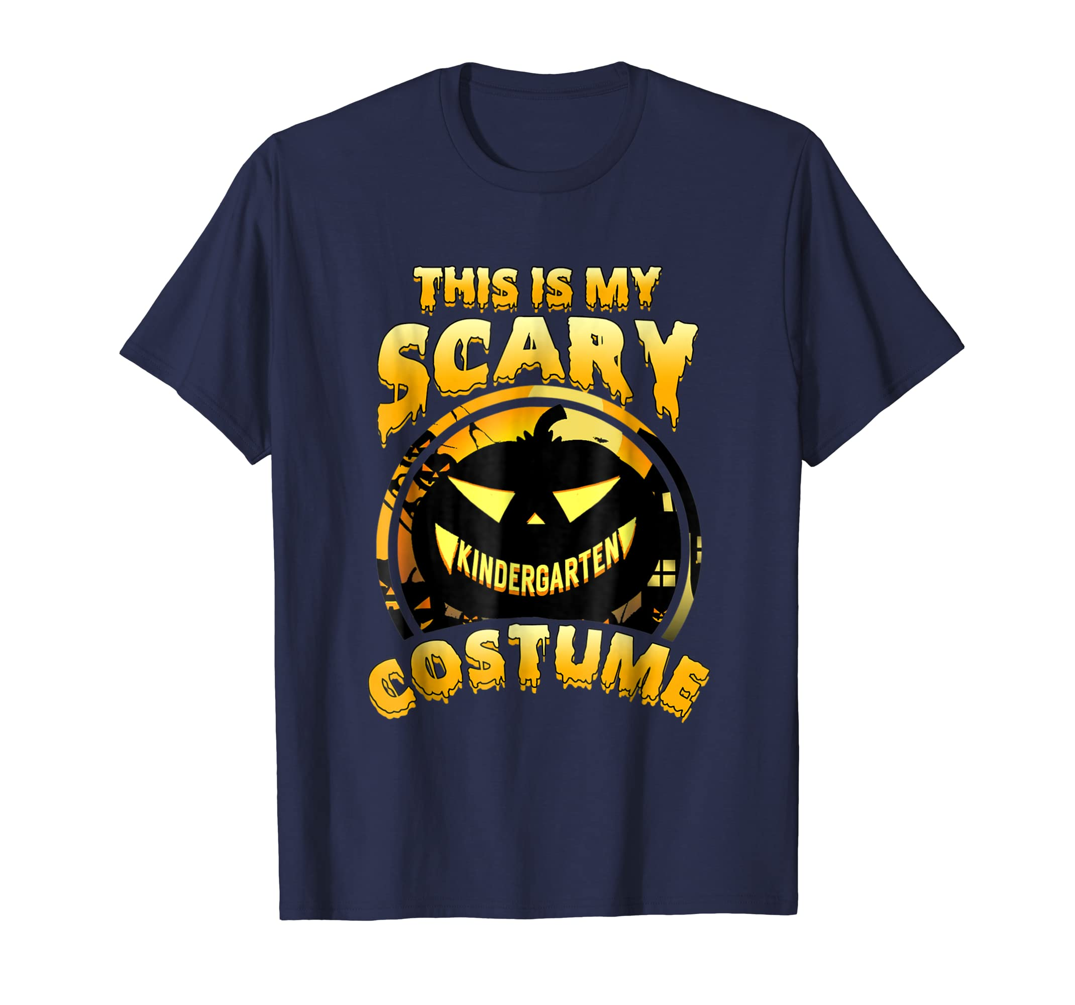 This Is My Scary Kindergarten Costume Halloween Gift T-shirt-AZP