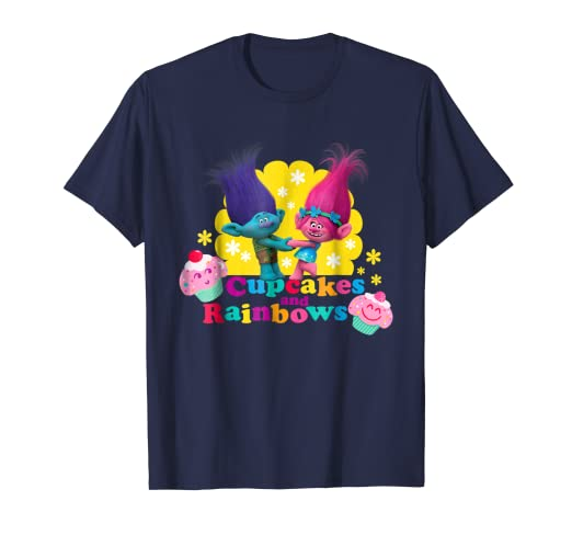 143493c1 Amazon.com: DreamWorks' Trolls Branch and Poppy Cupcakes T-Shirt ...