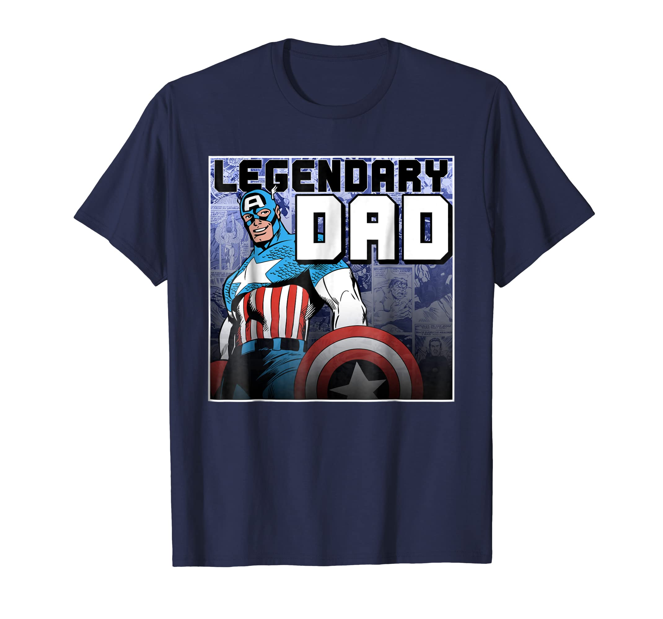 Captain America Father's Day Legend Graphic T Shirt-azvn