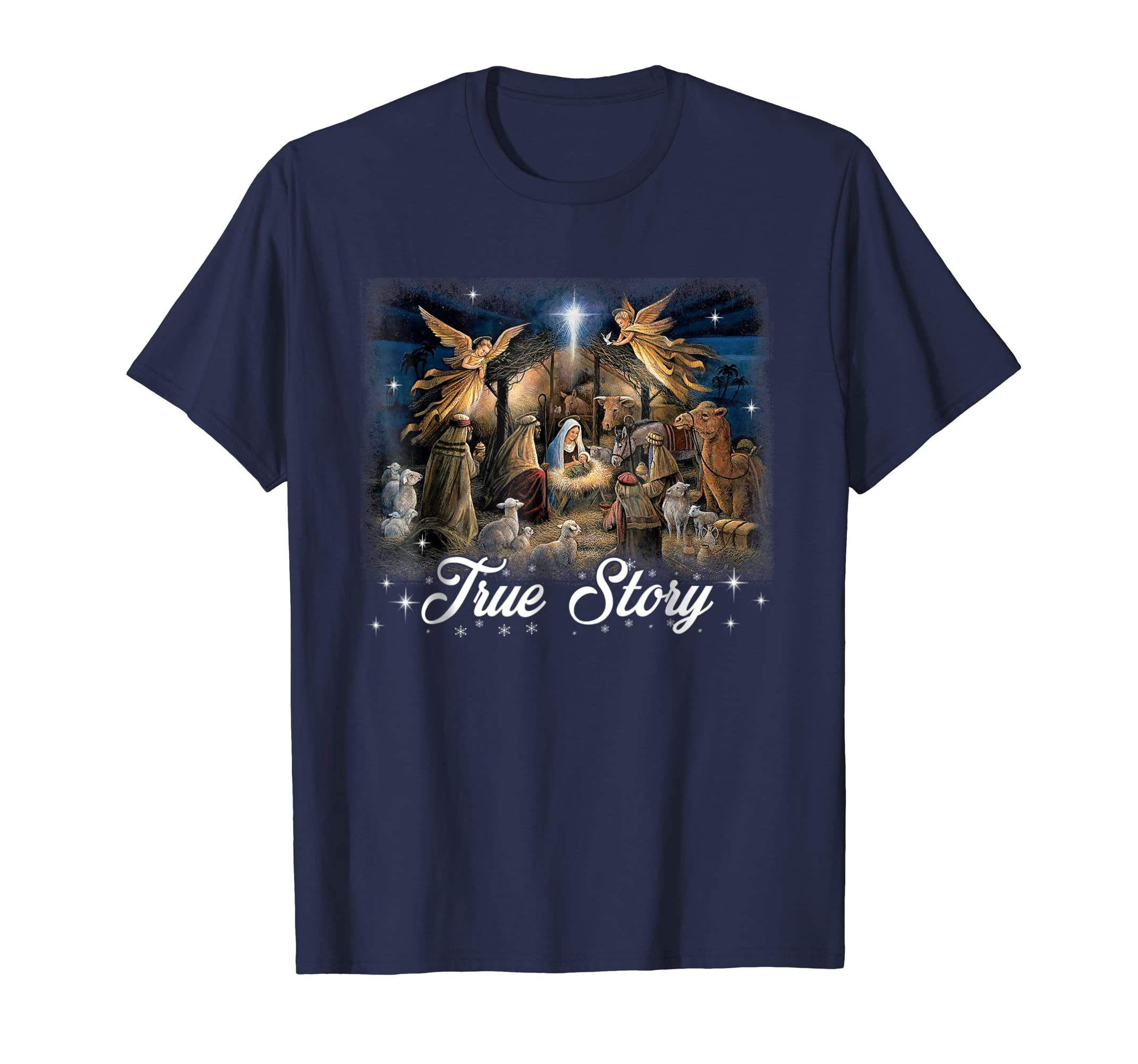 Christmas Manger Nativity Scene True Story Wise Men Shirt-azvn