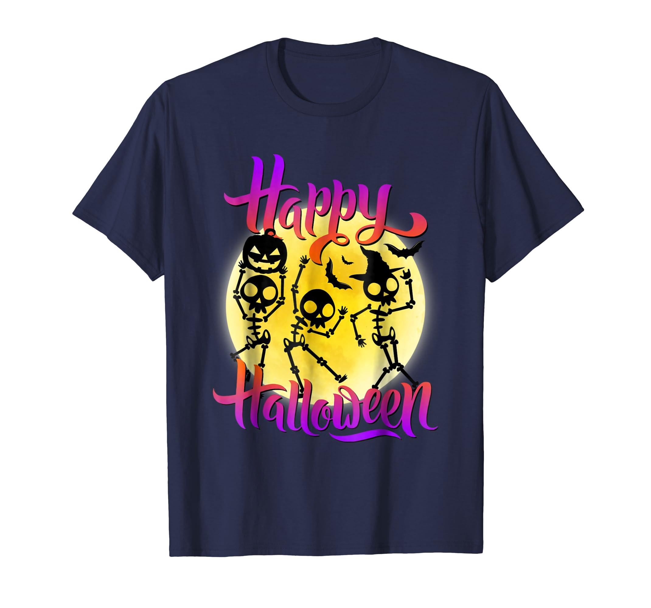Dancing Skeleton Dance Party Halloween Party T-Shirt-ln
