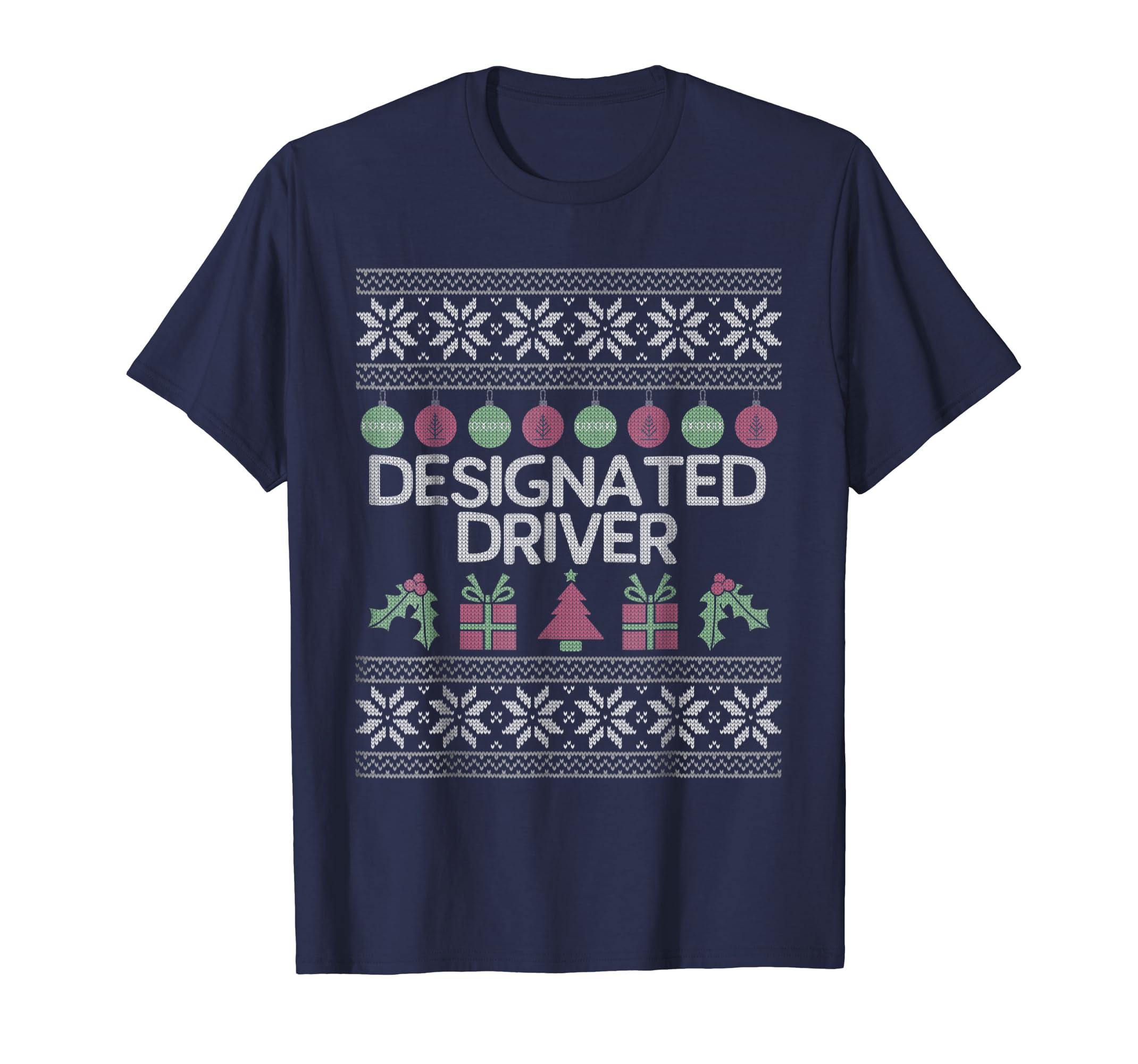 Designated Driver   Funny Christmas T shirt-azvn