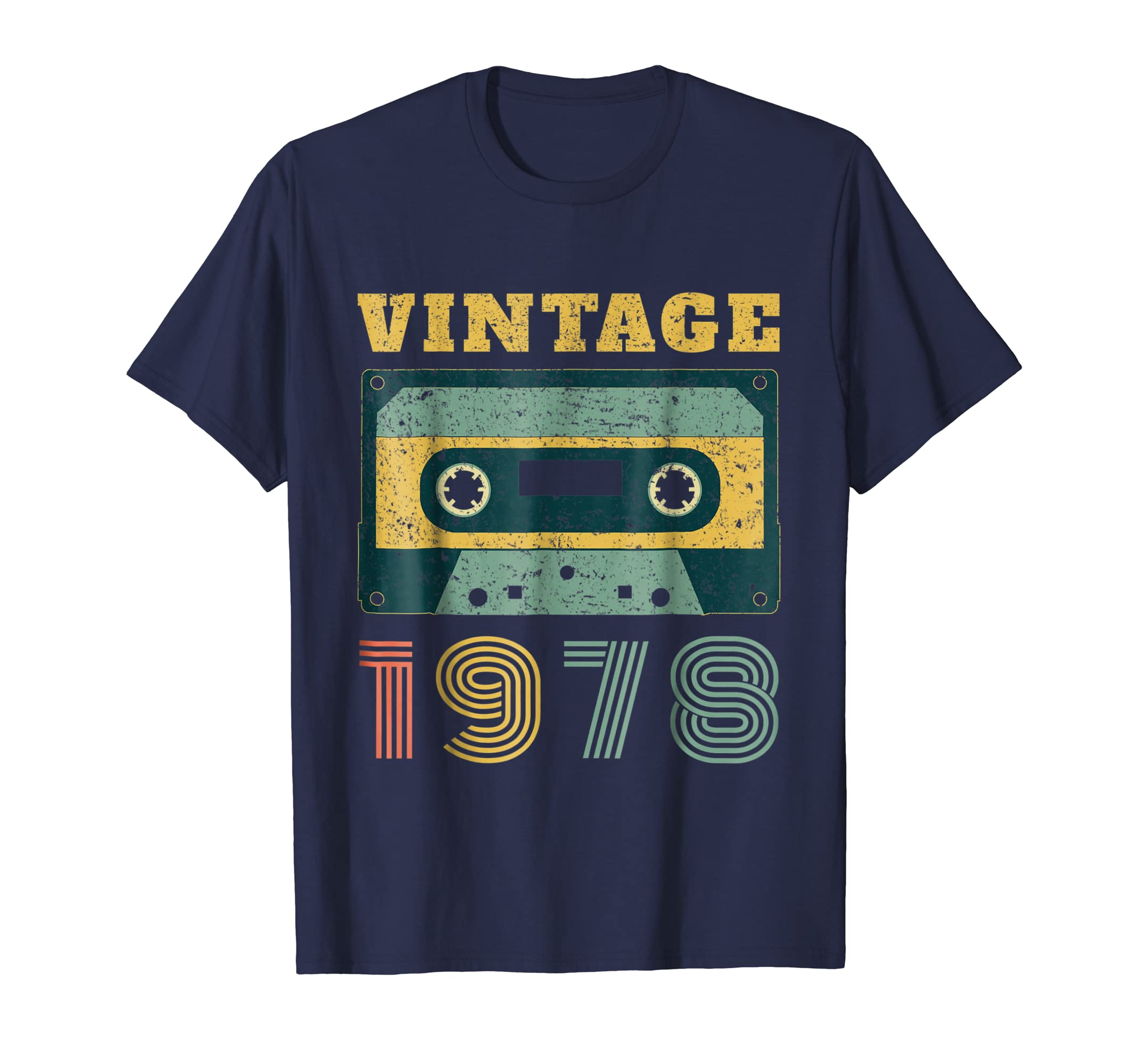 40th Birthday Gift Vintage 1978 Year Old Mixtape T-Shirt-Rose