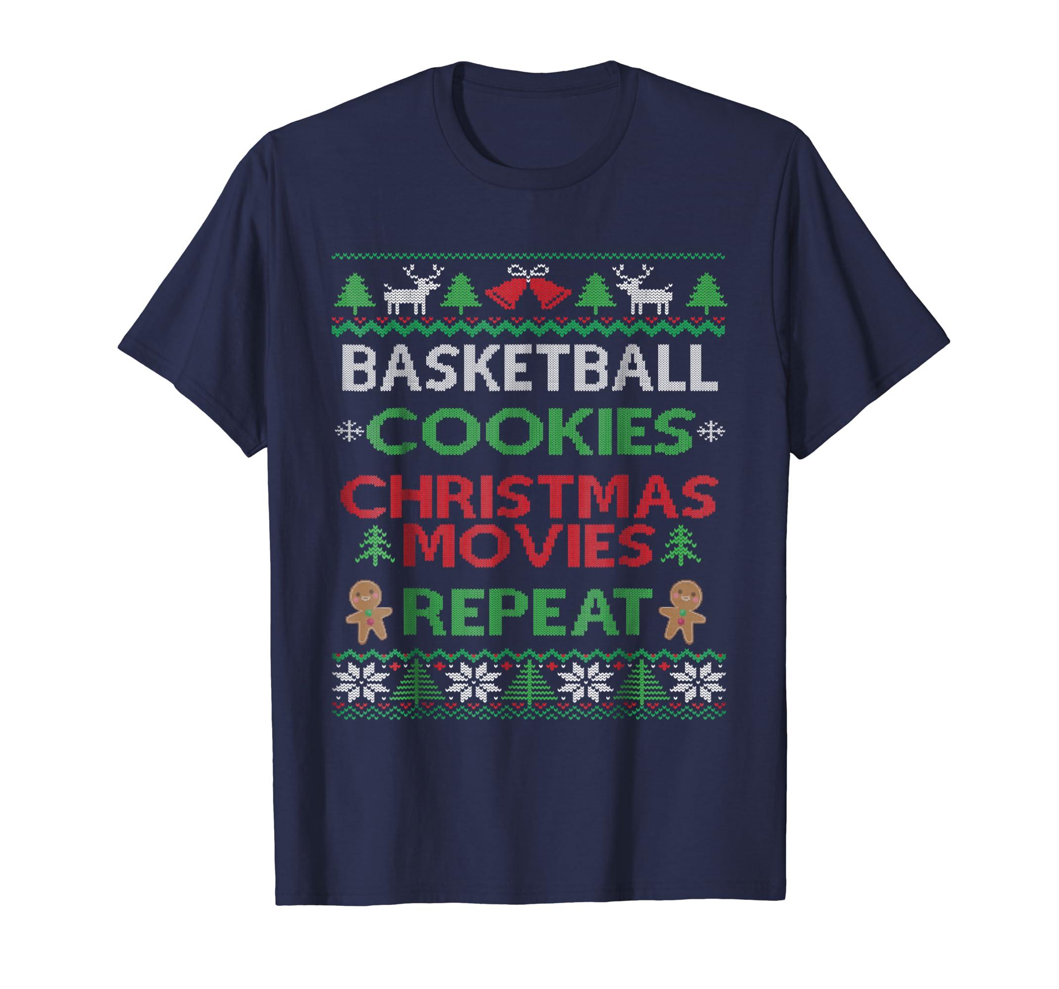 Basketball Player & Fan Ugly Christmas Pajama T-shirt Funny-SFL