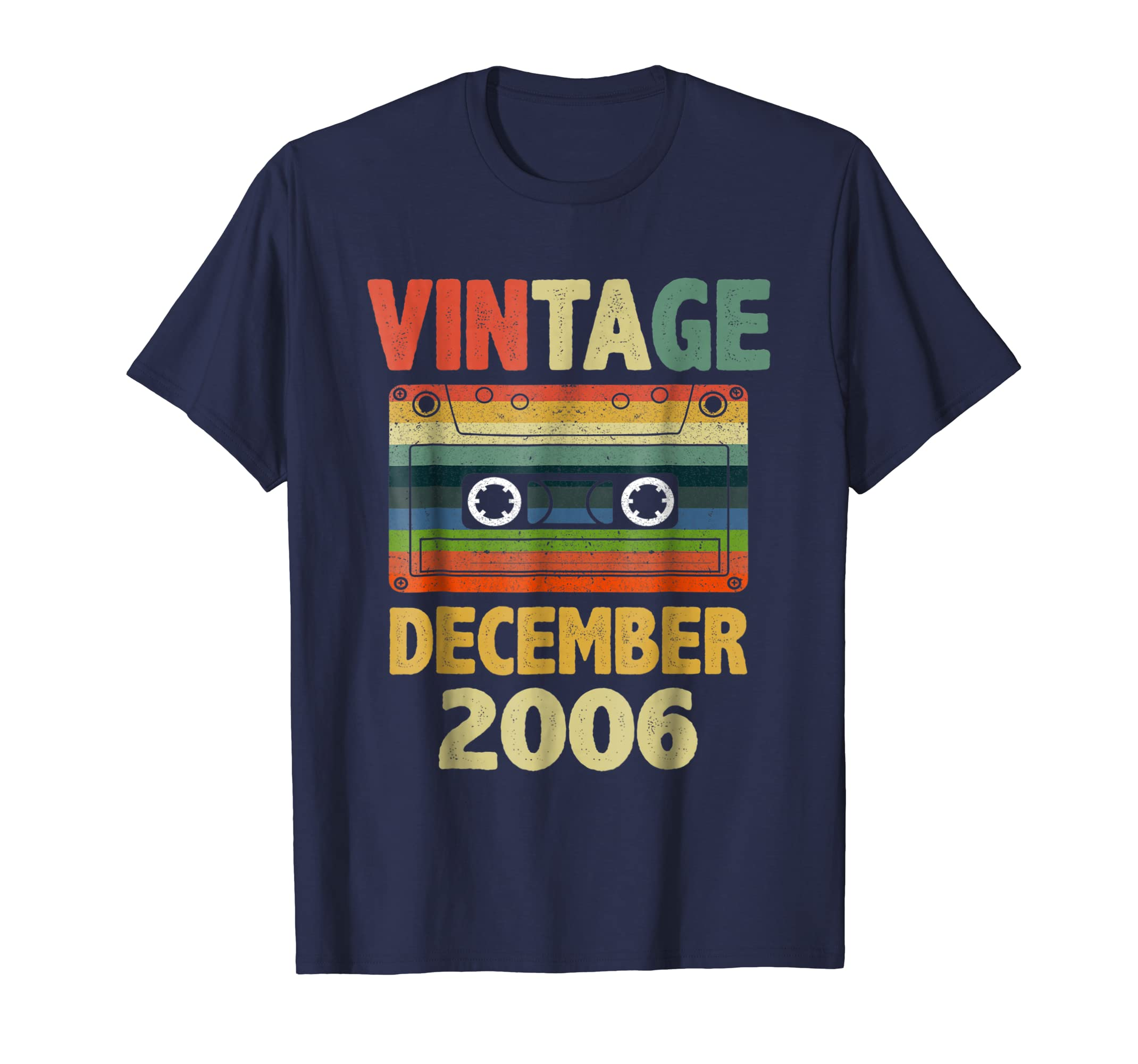 12th Bday Gifts Vintage December 2006 Yrs Old Mixtape TShirt-azvn