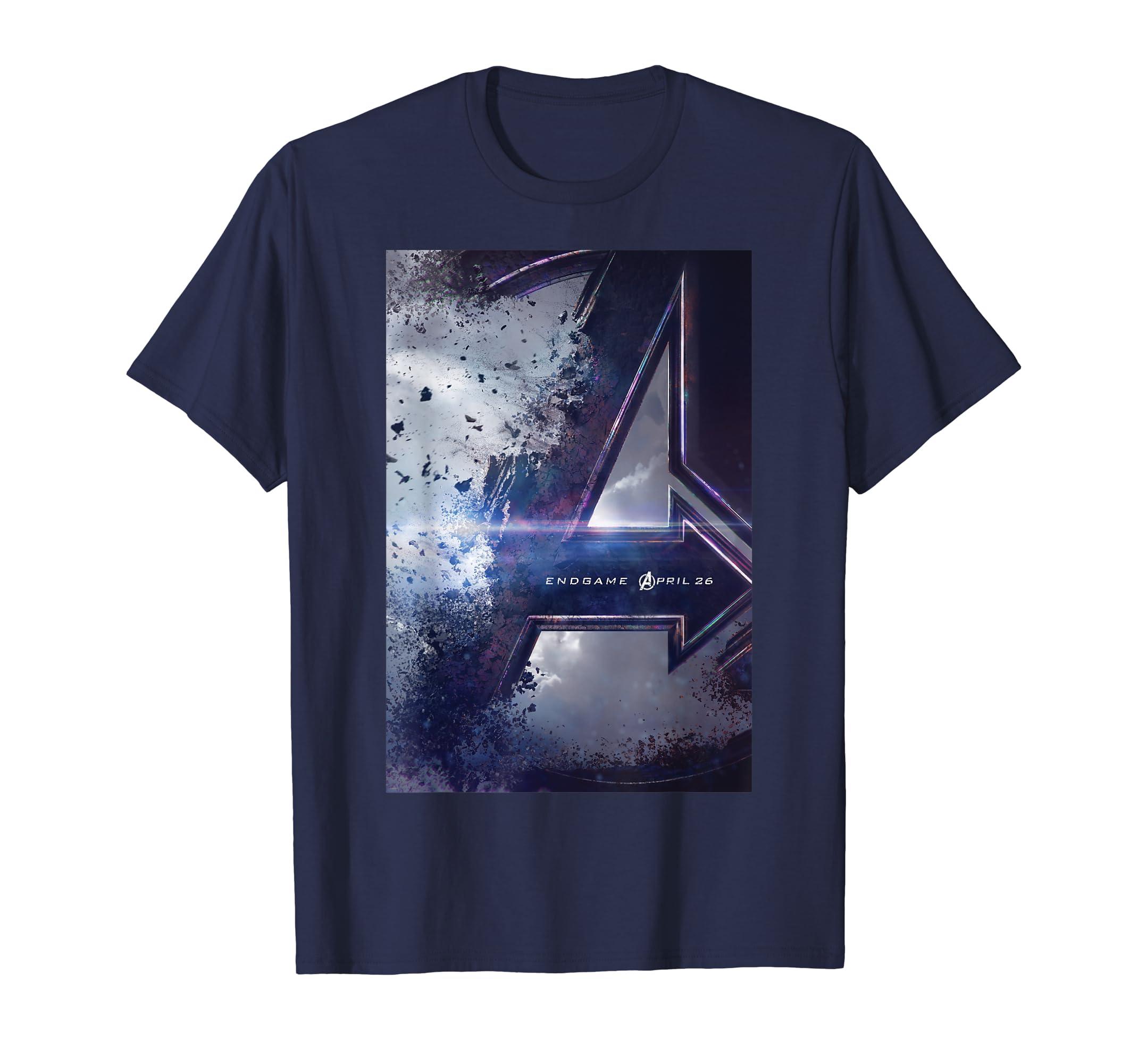 720dc8e27ba Amazon.com: Marvel Avengers Endgame Movie Poster Graphic T-Shirt: Clothing