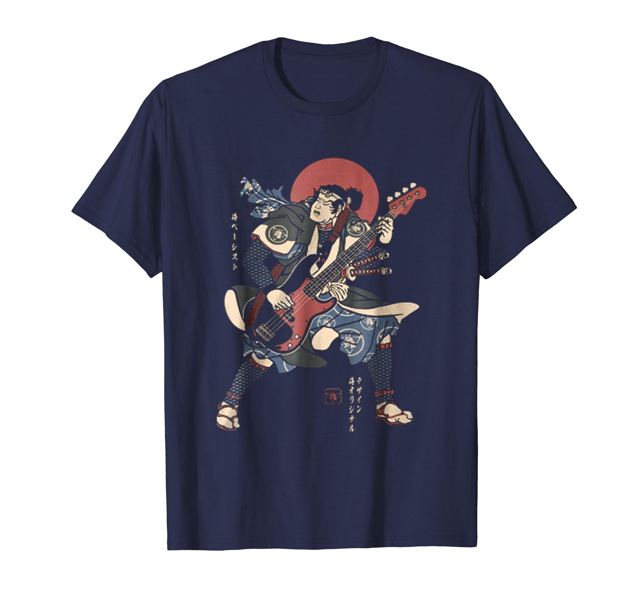 BASSIST SAMURAI NO,4, Samurai Guitar T Shirt-azvn