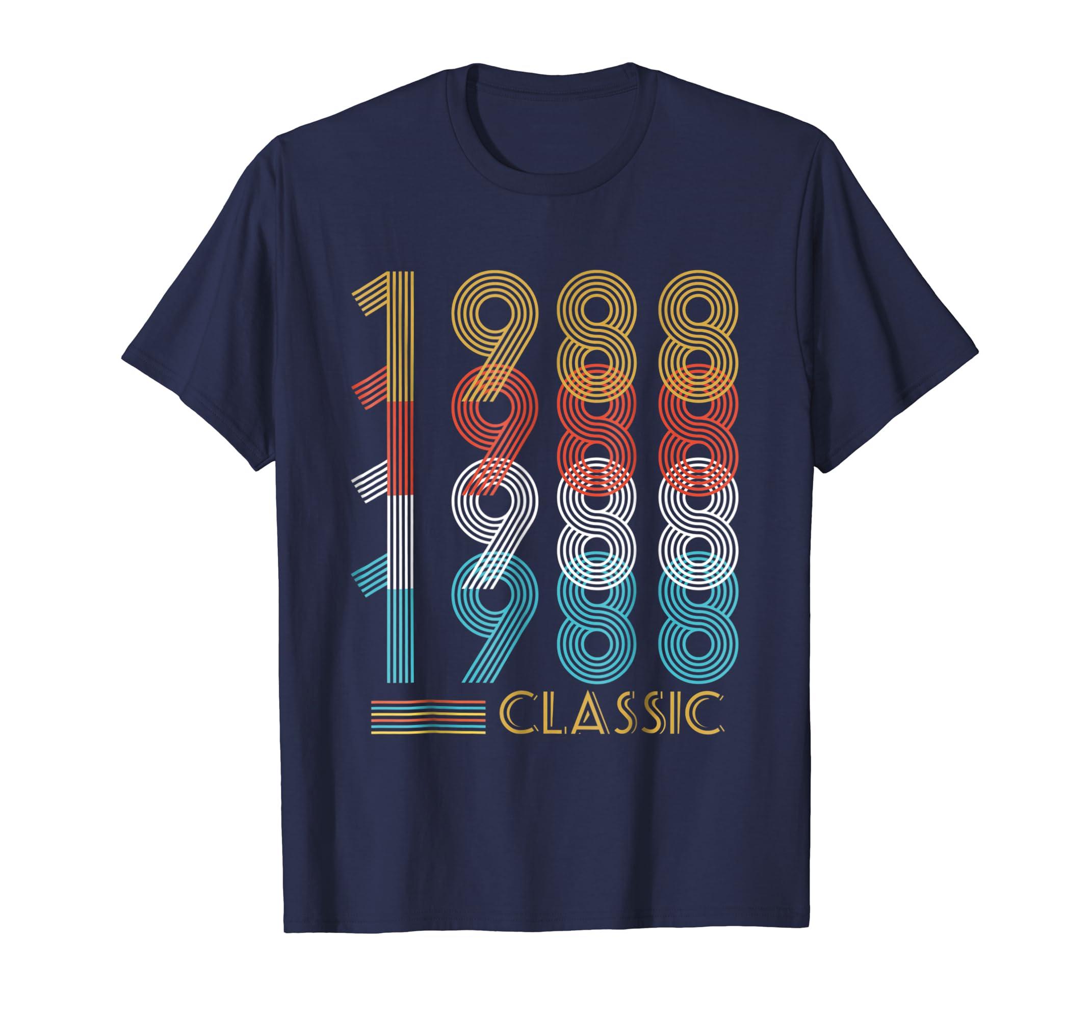 30th Birthday Gift Vintage 1988 T-Shirt For Men Women-AZP