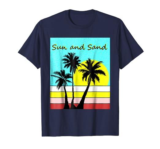 6cf87f18 Amazon.com: Sun and Sand - summer tshirt with beach design: Clothing