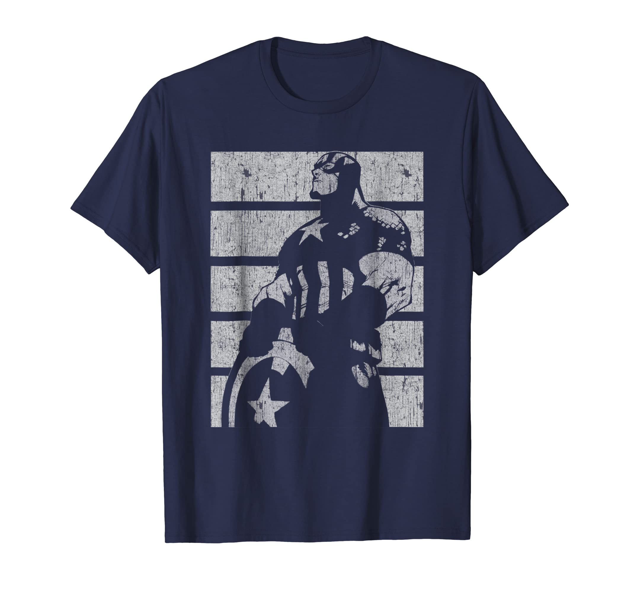 Captain America Avengers Profile Graphic T Shirt-azvn