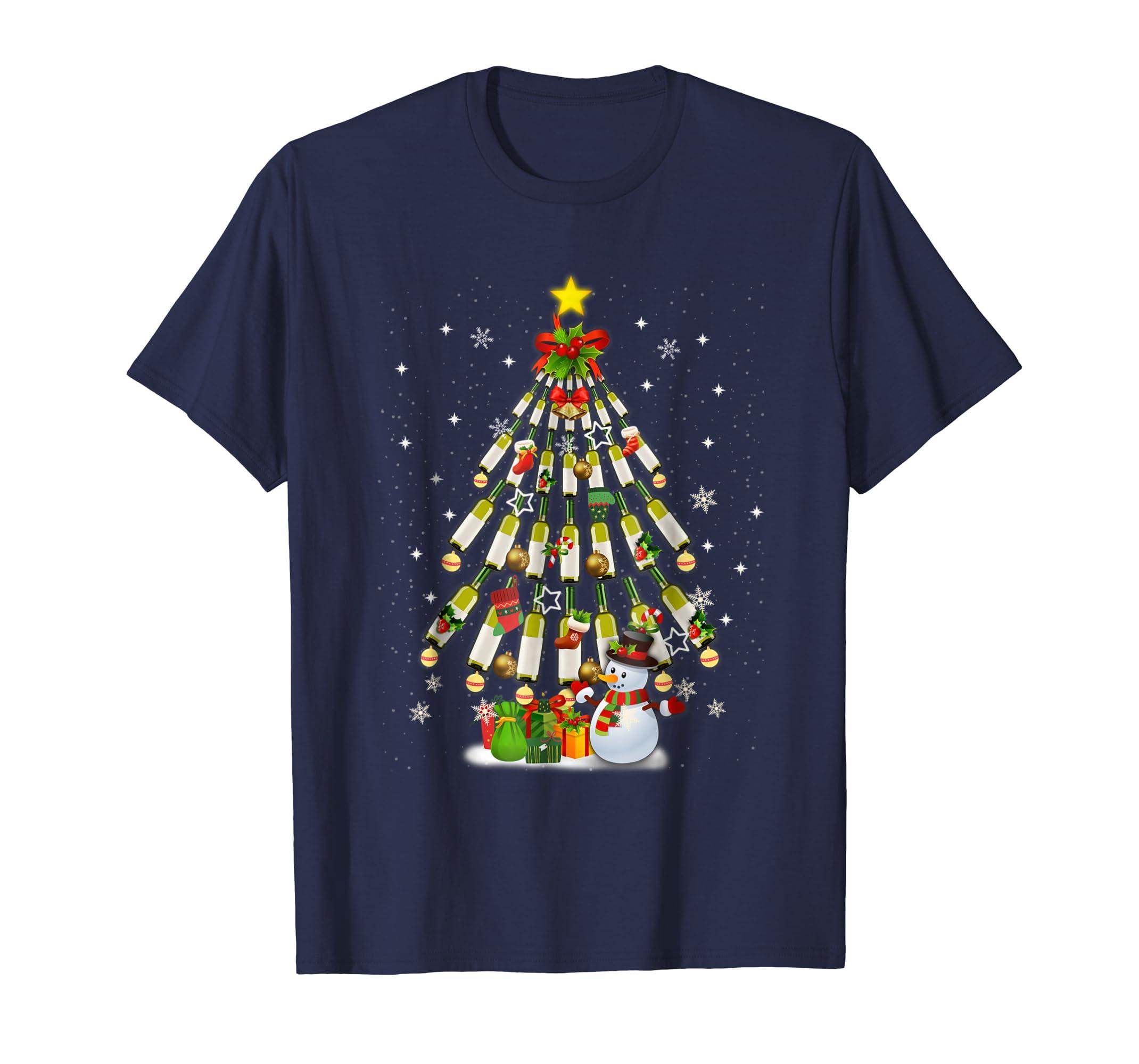 Wine Chemist Tree Christmas Funny T shirt-ln