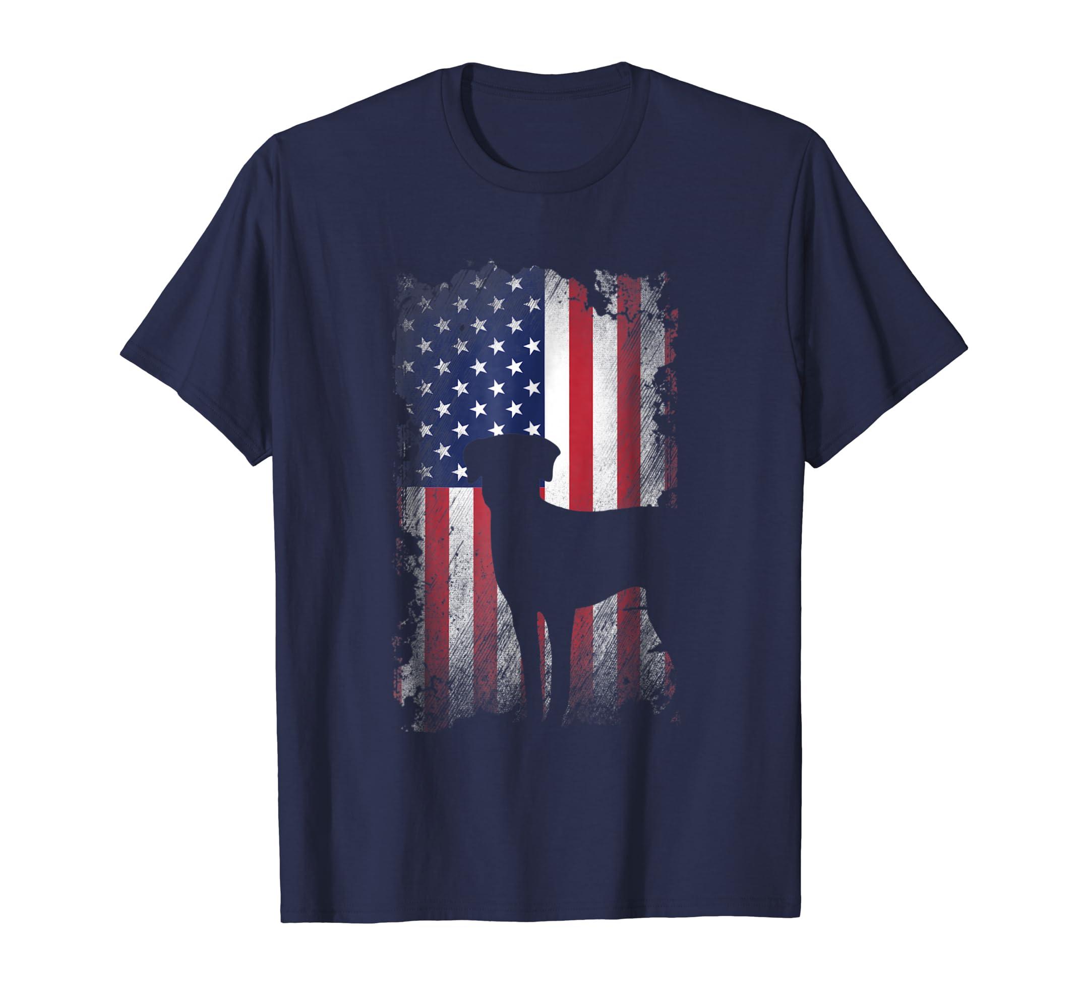 Catahoula Leopard Dog American Flag Shirt USA Patriotic Dog-AZP