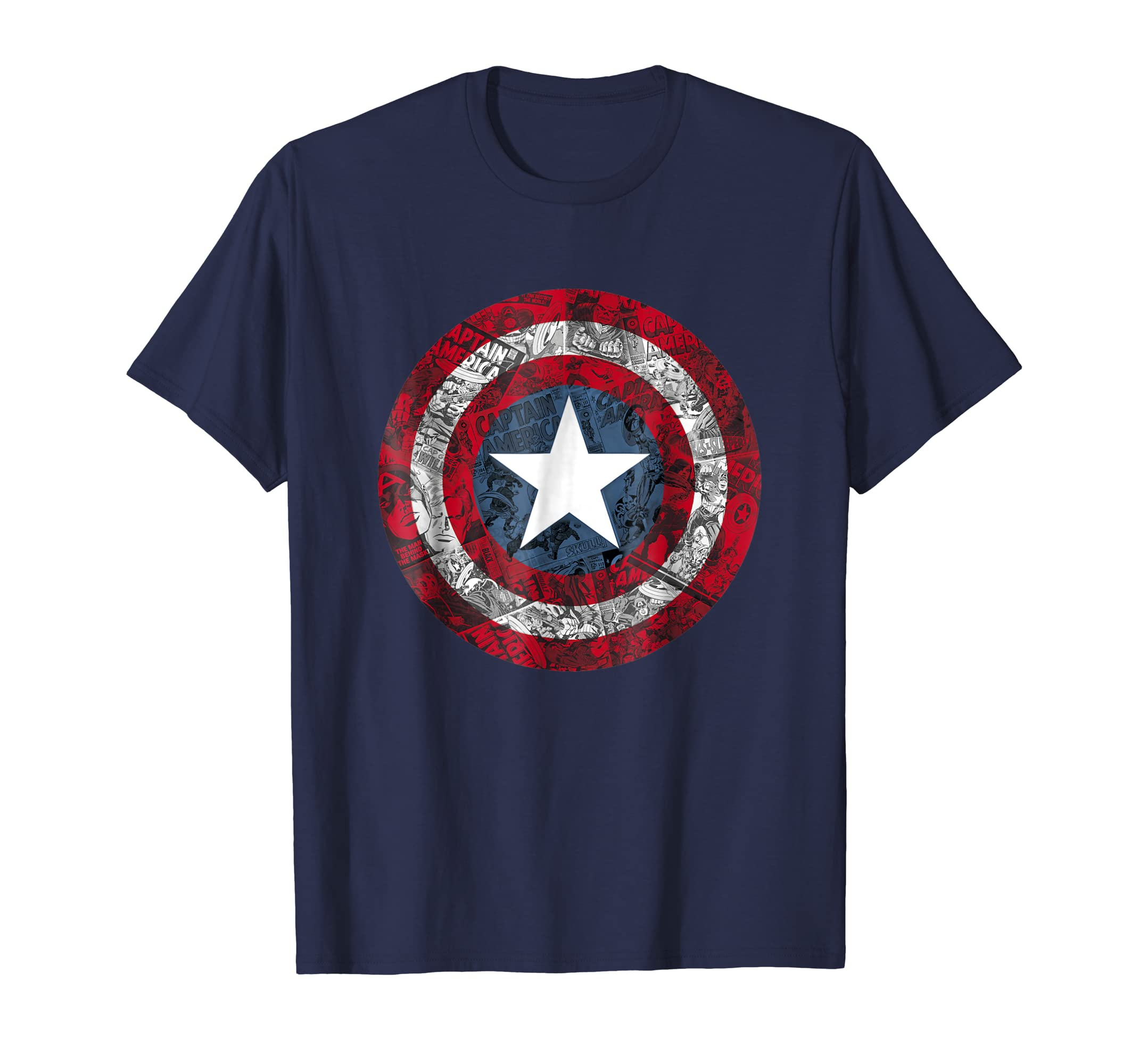Captain America Avengers Shield Comic Graphic T Shirt-azvn