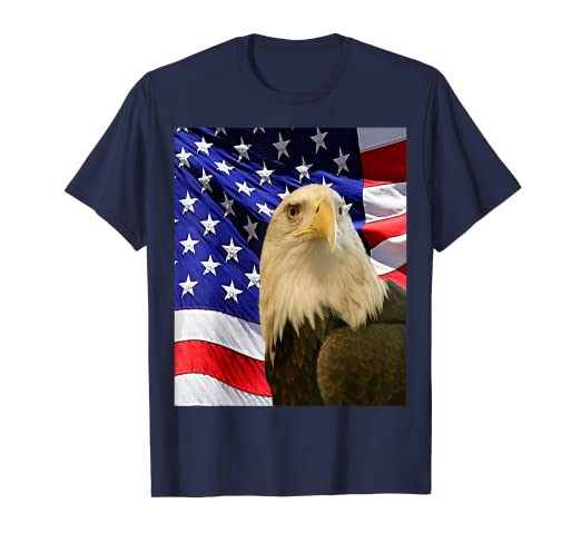 9a1578d4 Amazon.com: American Bald Eagle Flag Shirt, Patriotic Flag Shirt ...