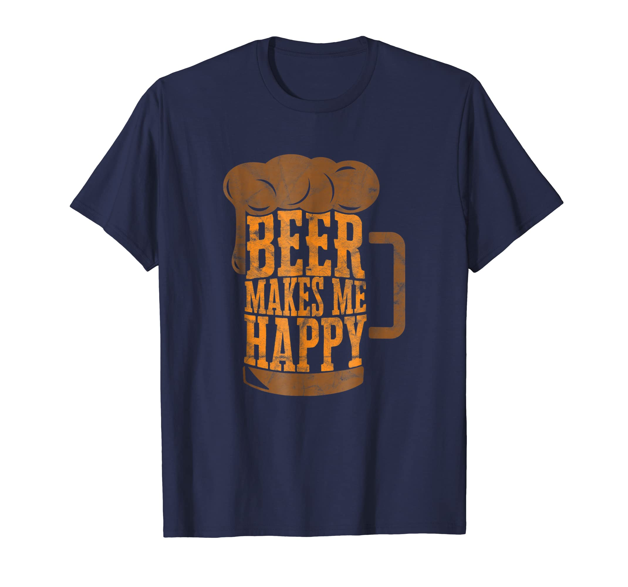 'Beer Makes Me Happy' International Beer Day Shirt-AZP
