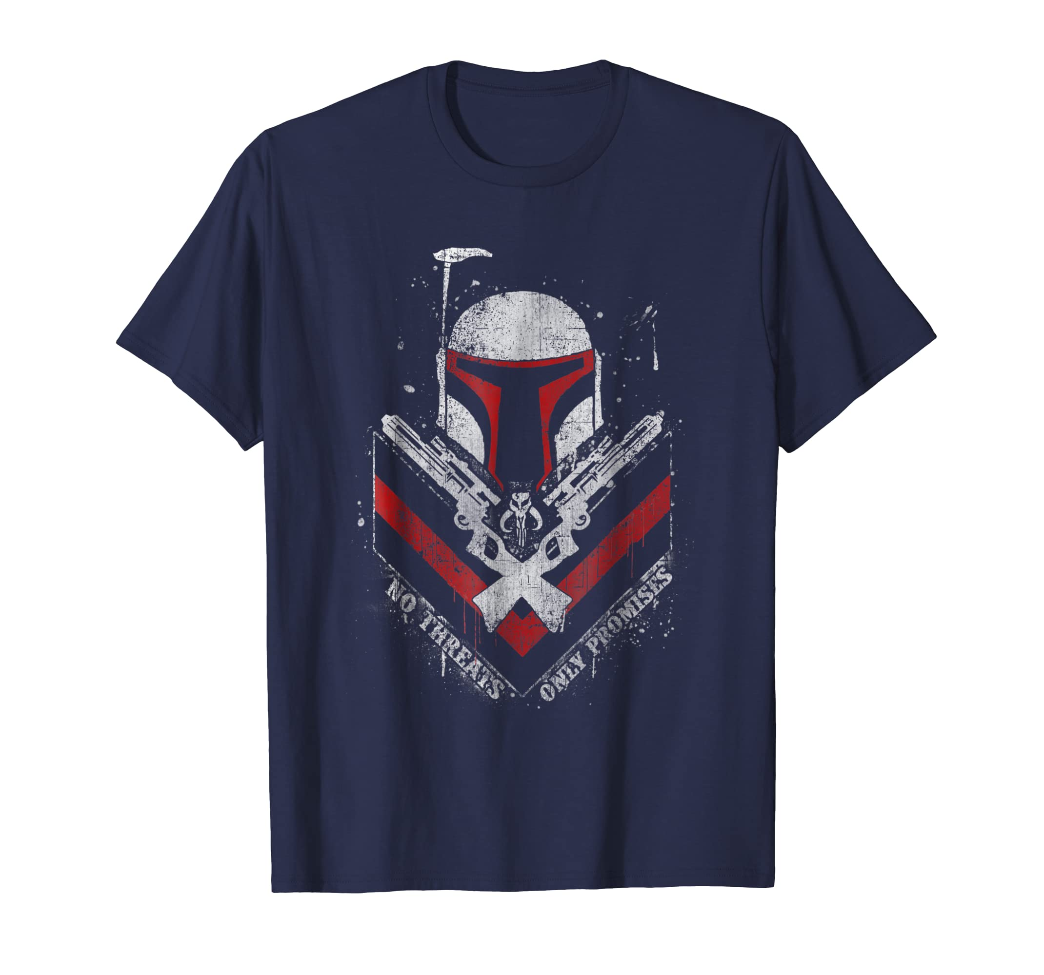 Boba Fett No Threats Only Promises Graphic T Shirt-azvn