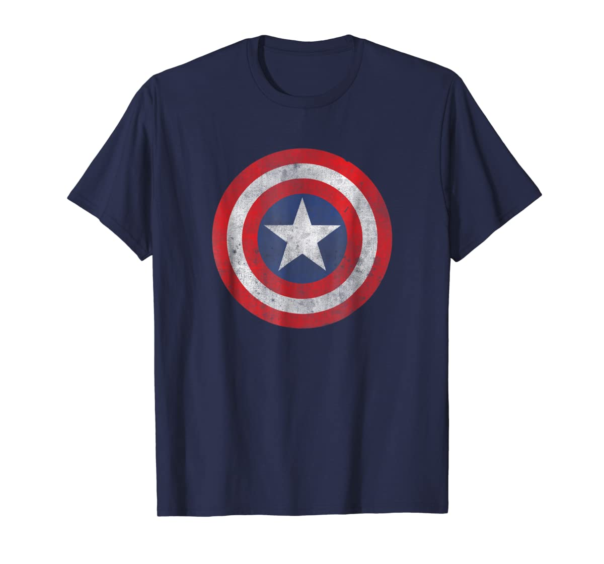 Marvel Captain America Classic Shield Graphic T-Shirt-Men's T-Shirt-Navy