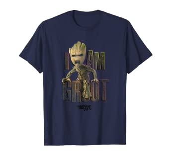Amazon.com  Marvel Guardians Vol.2 I AM GROOT Cute Angry Graphic T ... 996425b5c