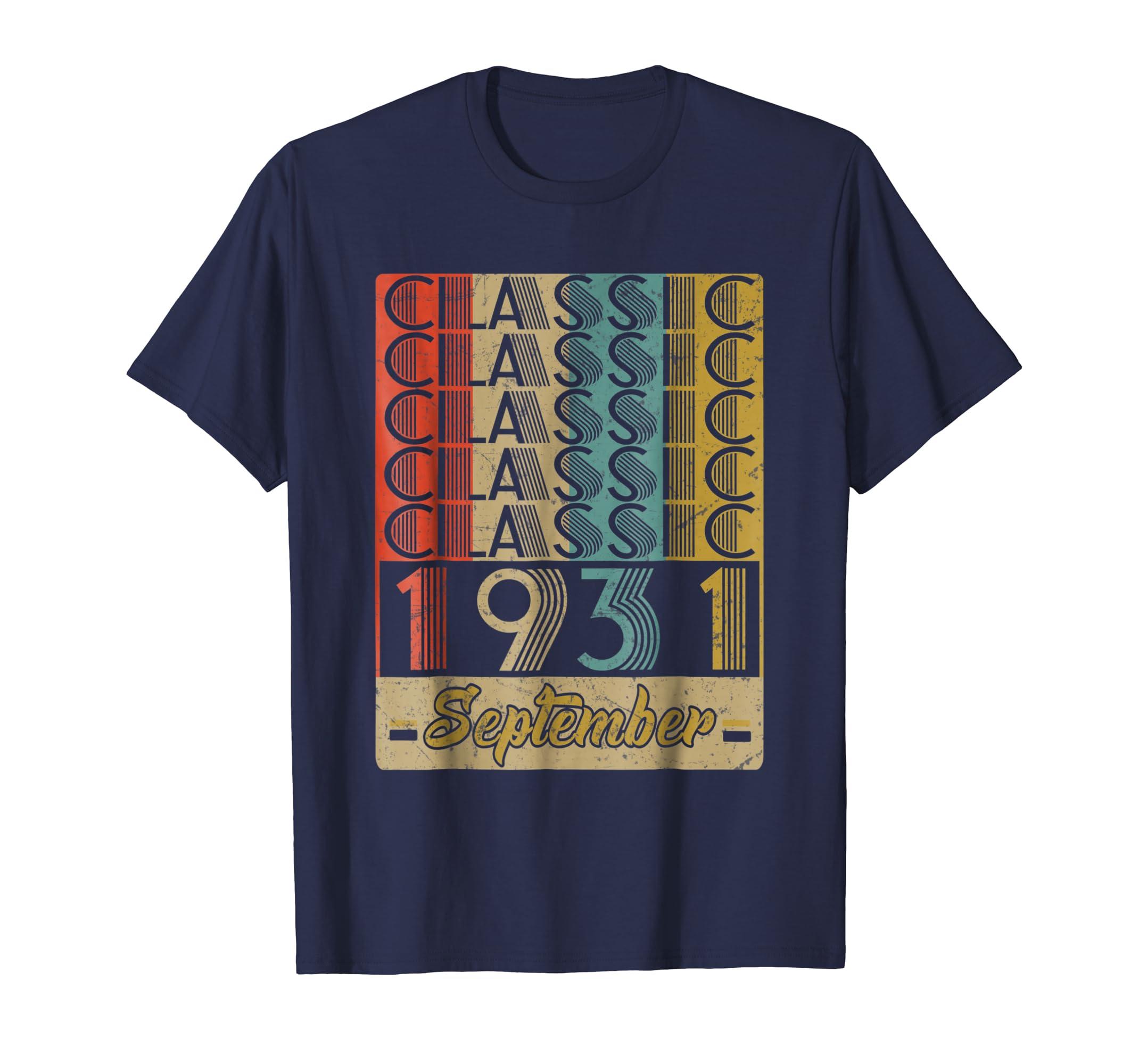 Classic September 1931 87th Birthday Gift Ideas Shirt-Teesml