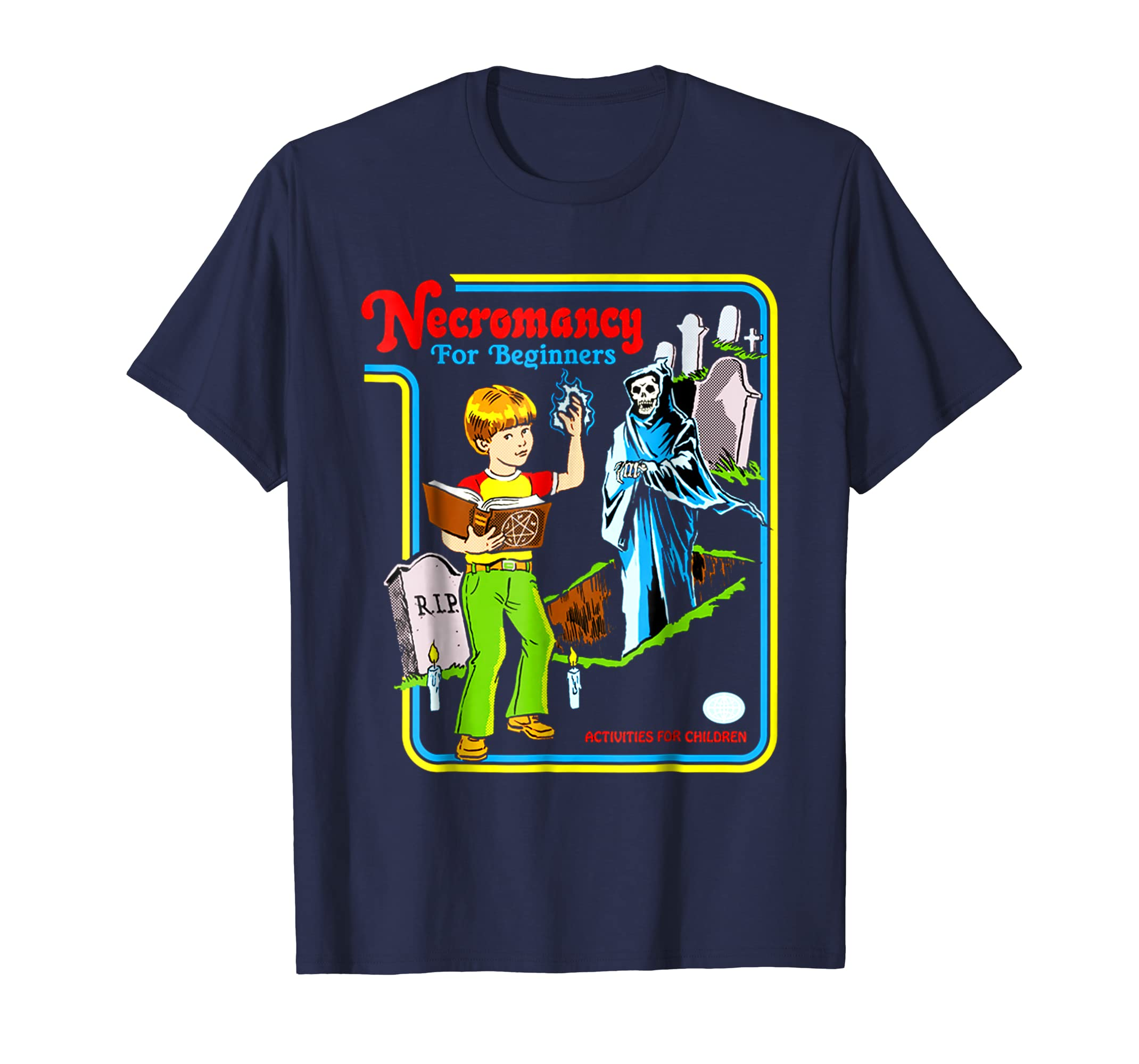 'Necromancy For Beginners' Funny Retro Vintage 70s T Shirt-Newstyleth