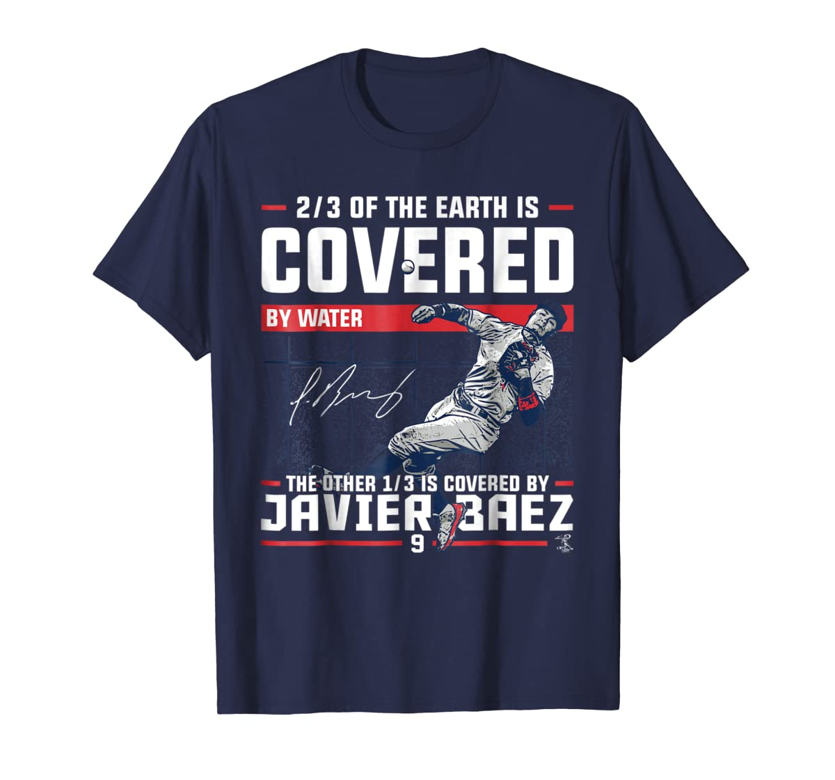 Javier Baez Covered By T-Shirt - Apparel-Men's T-Shirt-Navy