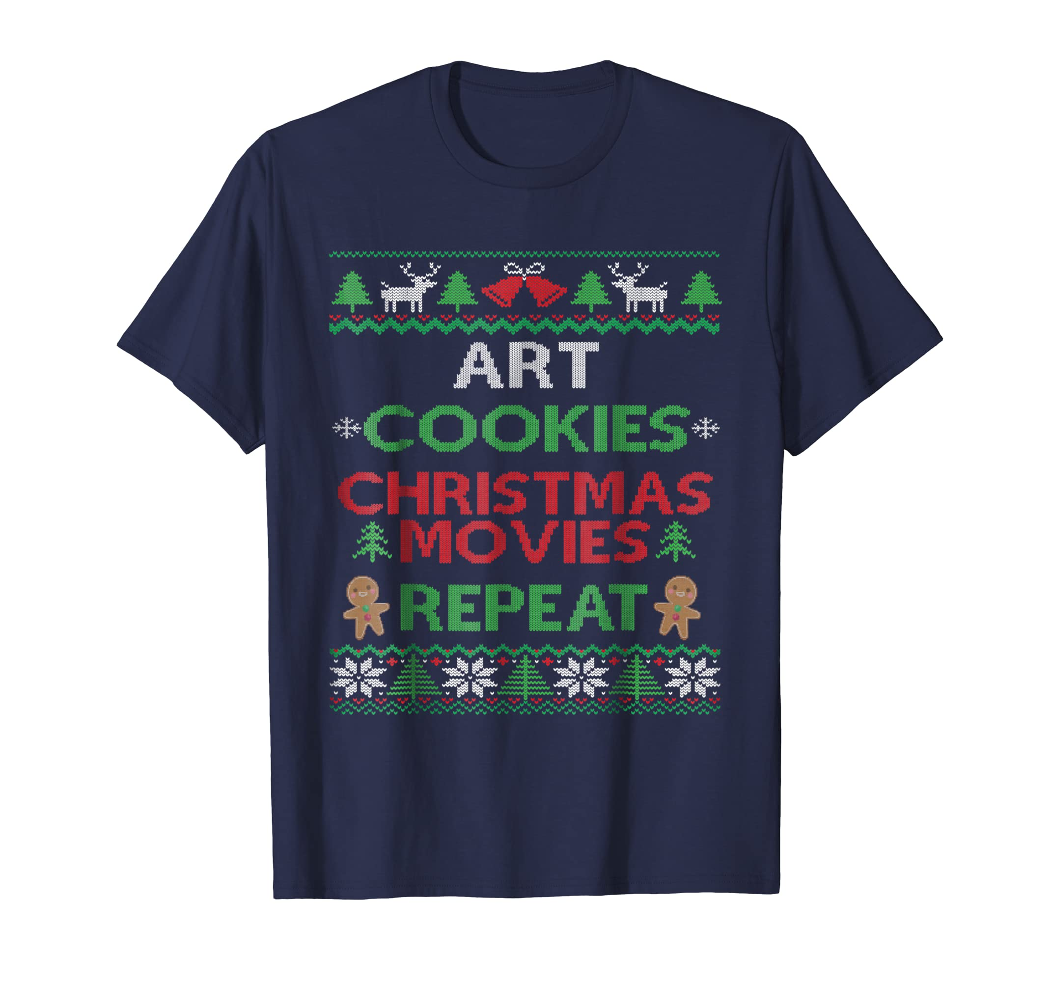 Ugly Christmas Pajama Art Teacher Artist T-shirt Funny-SFL