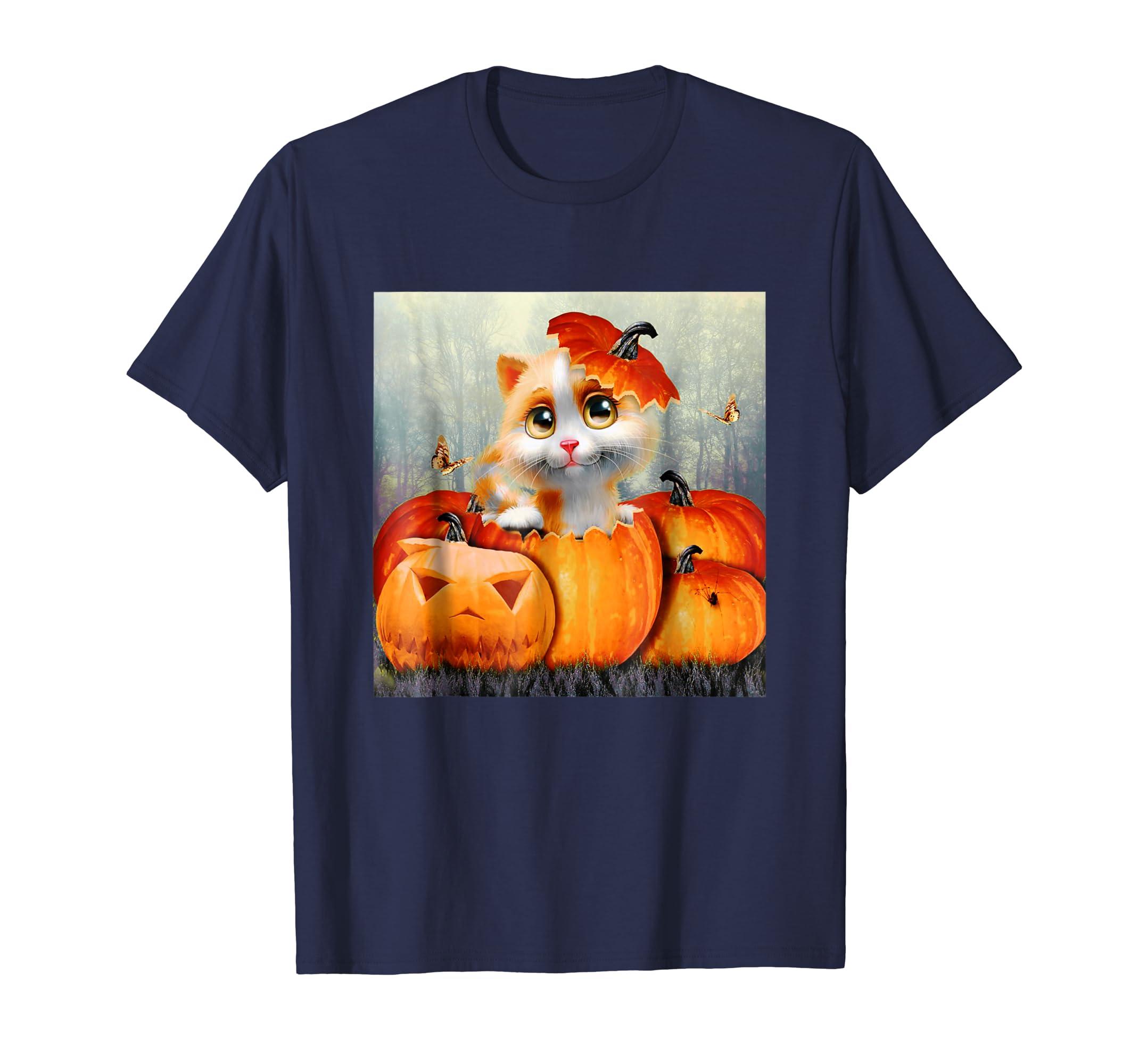 2018 Halloween Shirt Cat Halloween Shirt Pumpkin Halloween-Rose