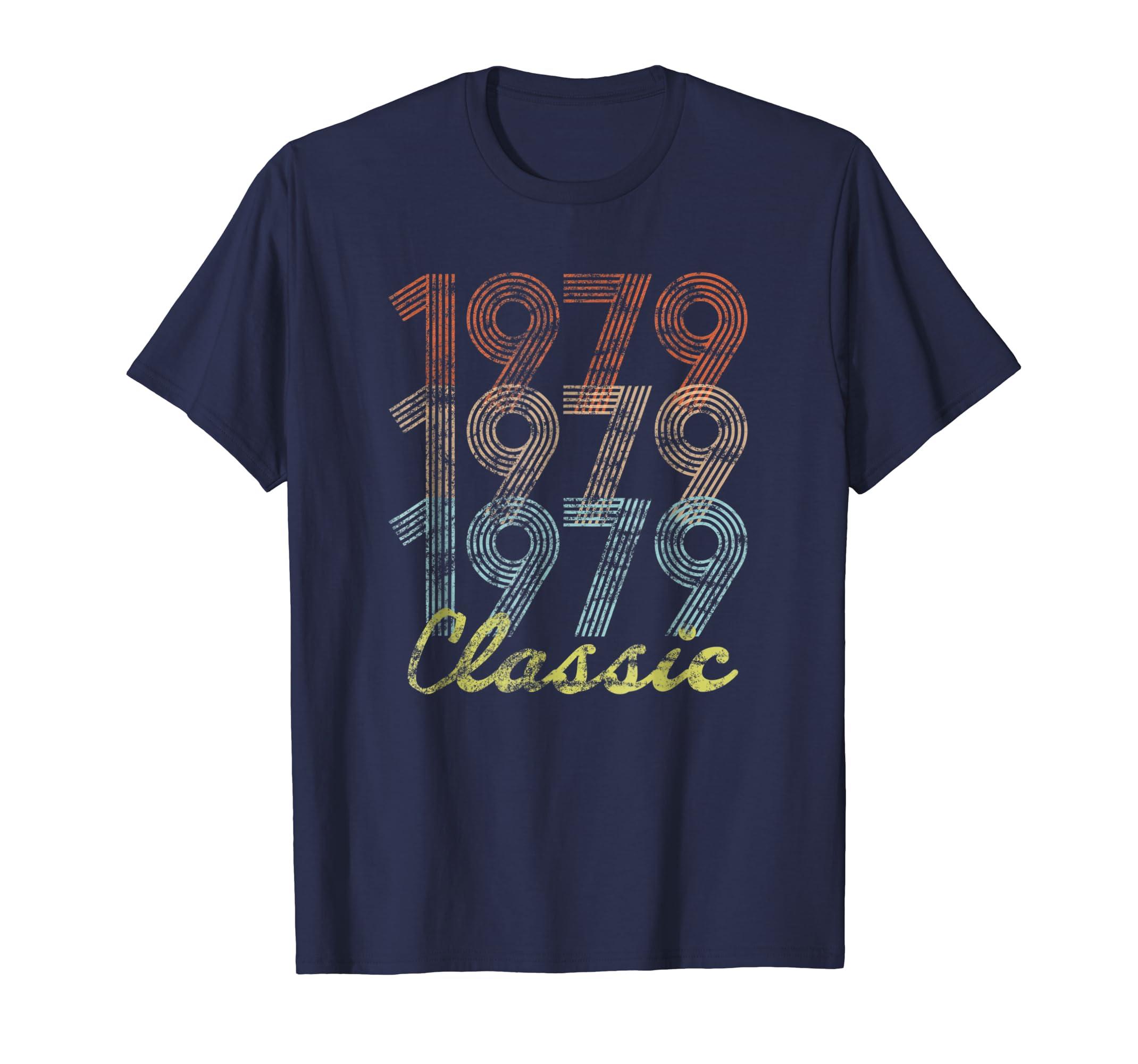 1979 Classic Vintage Distressed 40th Birthday T shirt-azvn