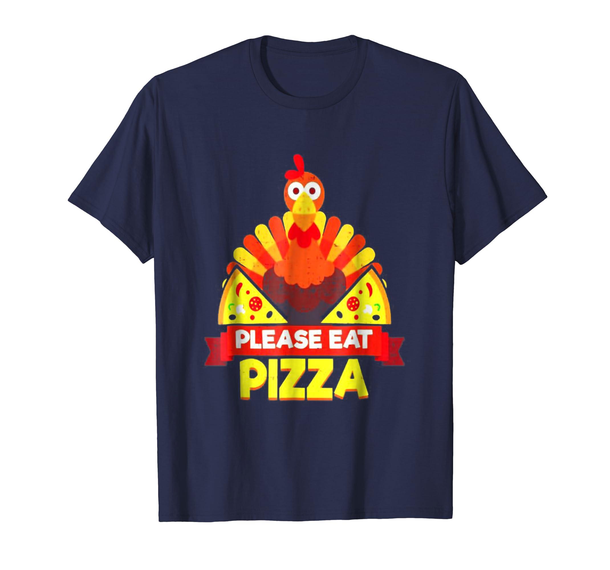Thanksgiving shirt, Turkey shirt, Turkey Eat Pizza-azvn