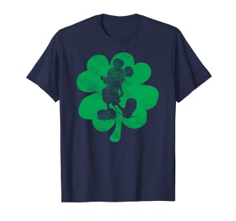 3119c9742 Image Unavailable. Image not available for. Color: Disney Mickey Mouse  Shamrock St. Patrick's T Shirt