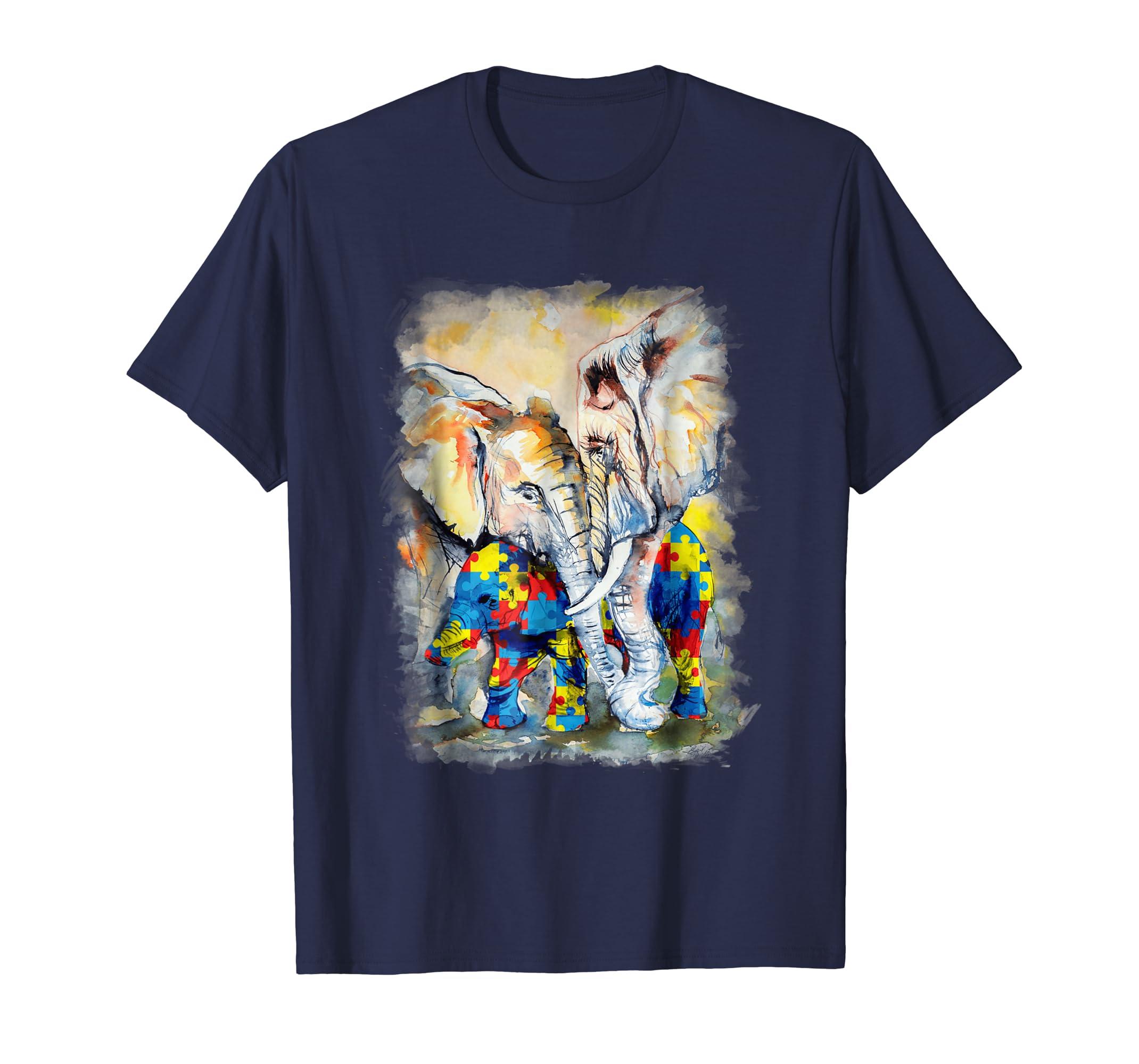 Autism Elephant Graphic T Shirt-AZP