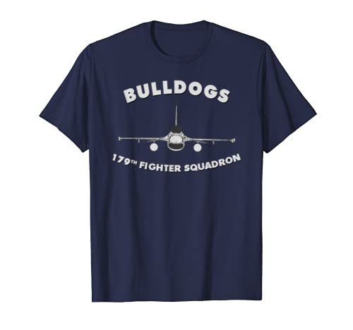 179th Fighter Squadron The Bulldogs F-16 T-shirt