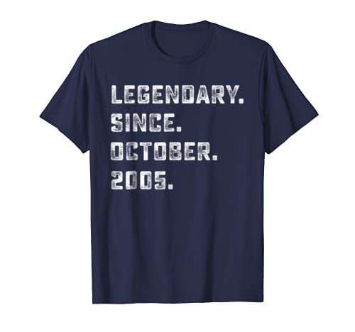 Legendary Since October 2005 13th Years Old Birthday Shirt