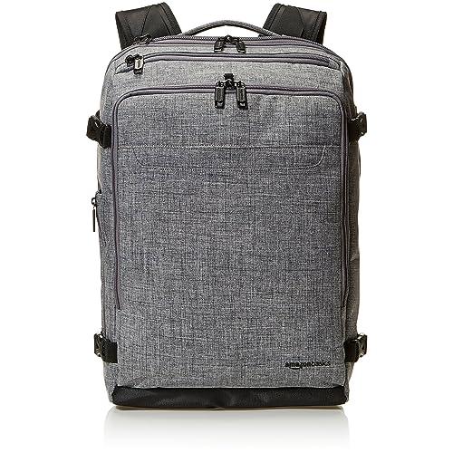 Amazon Basics Slim Carry On Travel Backpack, Grey - Weekender