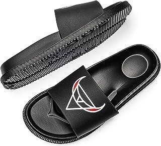 PAGCURSU Sliders Uomo Pantofole Uomo Scarpe Ciabatte da Piscina Scarpe estive Infradito Doccia Doccia e Scarpe da Bagno
