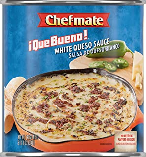 Chef-mate Que Bueno White Queso, Nacho Cheese Sauce, 0 Grams Trans Fat, 6 lb 10 oz, #10 Can