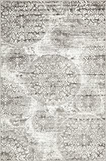 Unique Loom 3138676 Sofia Collection Traditional Vintage Beige Area Rug, 5' x 8' Rectangle, Gray