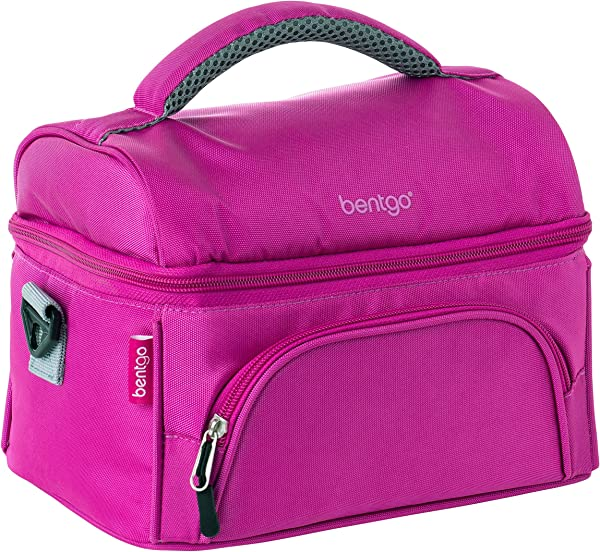 Bentgo Lunch Bag Purple Insulated Lunch Tote For Work And School With Top And Main Compartments 2 Way Zipper Adjustable Strap And Front Pocket Fits All Bentgo Lunch Boxes And Other Containers