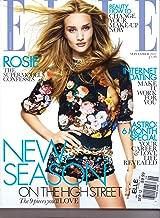 ELLE UK Magazine. ROSIE on Cover. September 2012.