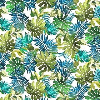 Michael Miller Fabrics Lost in Paradise Lavish Leaves White