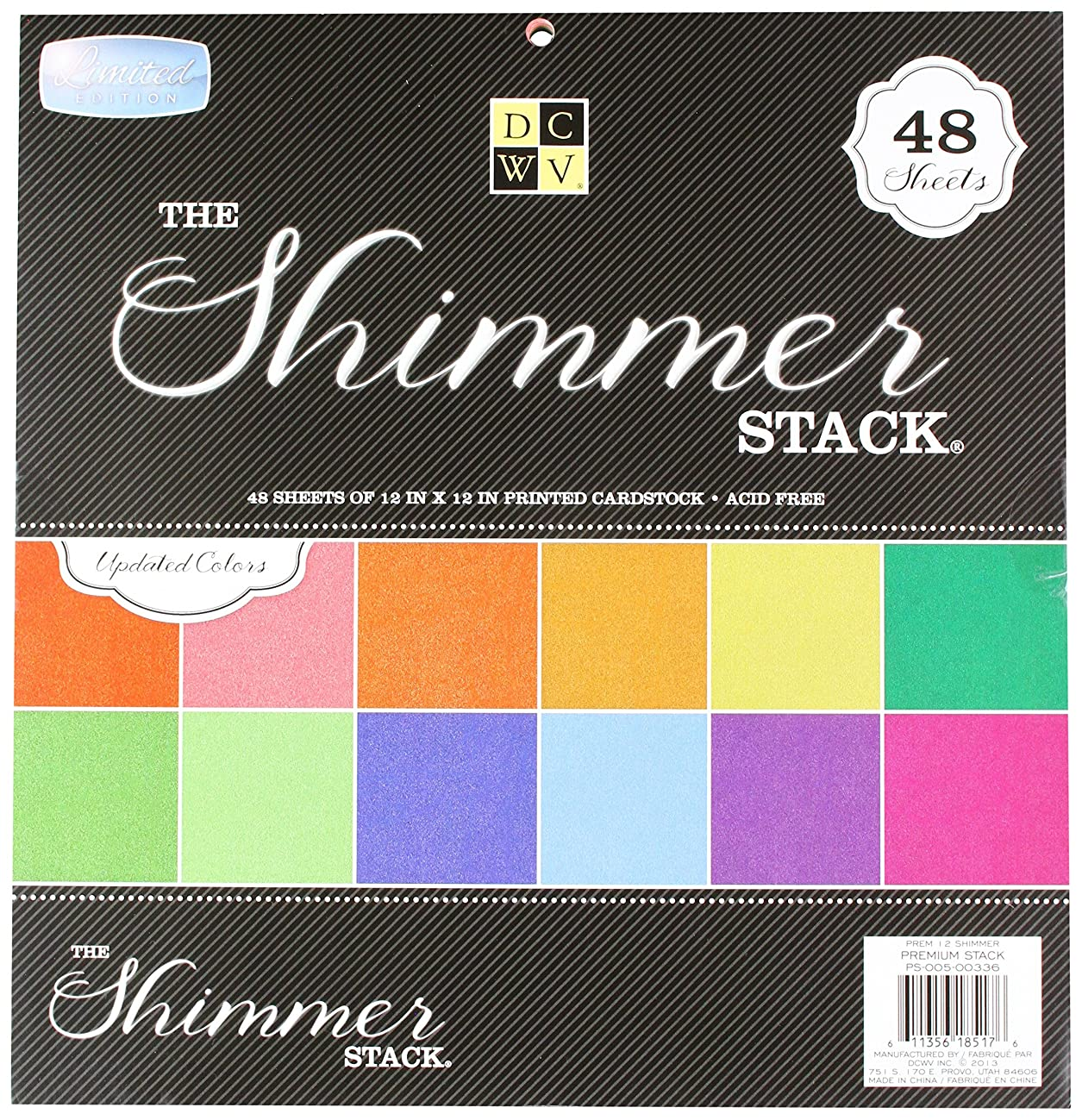American Crafts 12 x 12 Inch Shimmer 48 Sheets Die Cuts with a View Stacks, 12