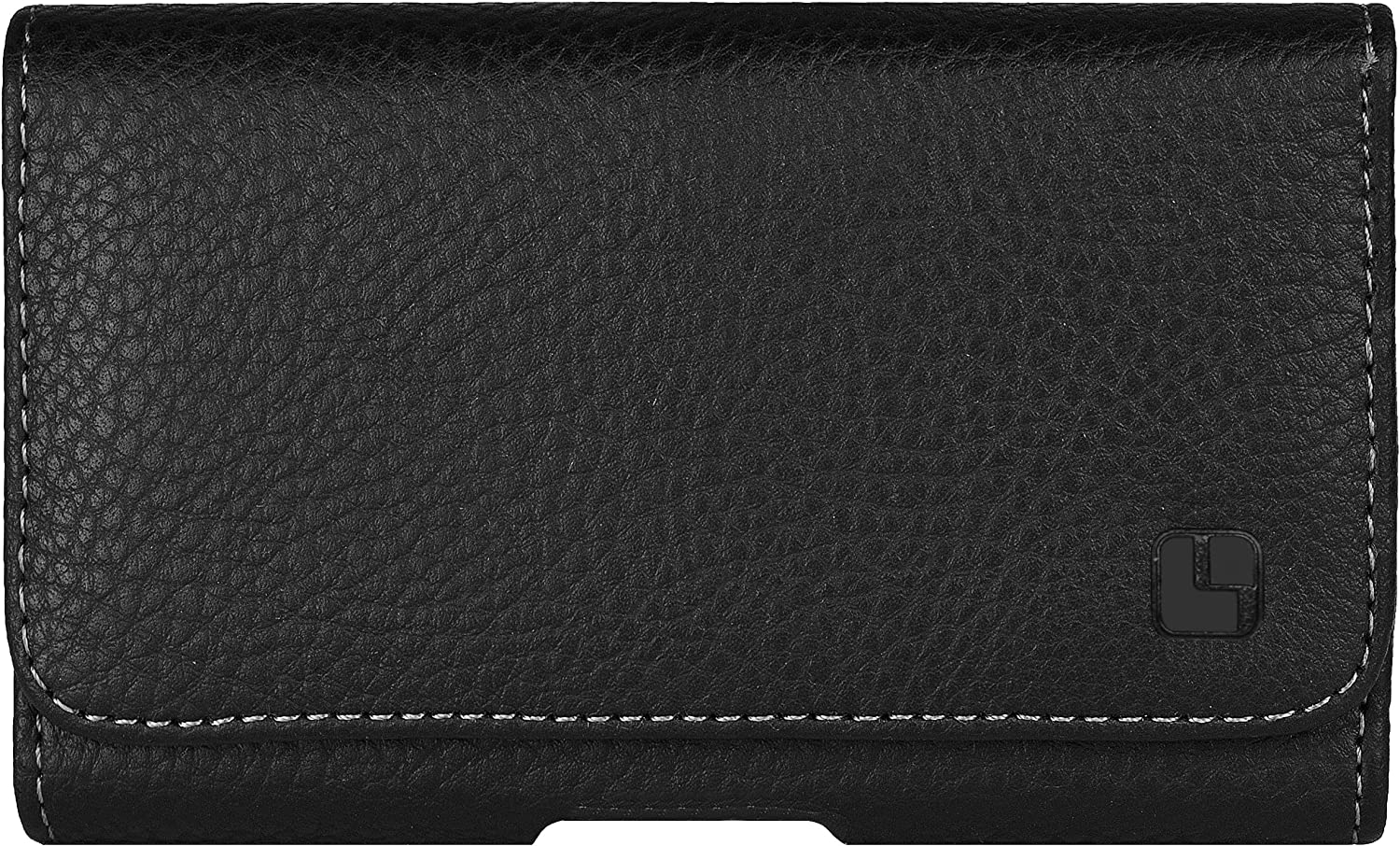 Cell Phone Holster Pouch with Belt Clip for iPhone 12 Pro, 12, 11, 11 Pro, XR, XS, 8, X (Pebble Black)