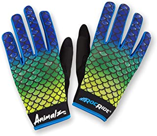 RocRide Animalz Cycling Gloves El Dorado. Full-Fingered with Screen Compatible Tips. Mountain Biking, Road and BMX. Expressive Animal Print Designs.