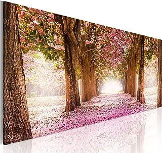 murando Cuadro en Lienzo Bosque Flores 135x45 cm 1 Parte
