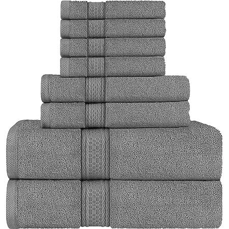 Utopia Towels - Ensemble de Serviettes de Bain en 100% Coton - 2 Serviettes de Bain, 2 essuie Main et 4 débarbouillettes (Gris)