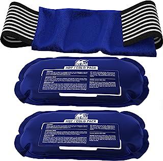 Ice Pack (مجموعه ای 2 تکه) - ترمیم مجدد آسیب پشتیبانی از بسته های ژل درمانی گرم و سرد قابل استفاده مجدد ، تسکین درد مفاصل و ماهیچه ها - روتاتور کاف ، زانوها ، پشت و سایر موارد