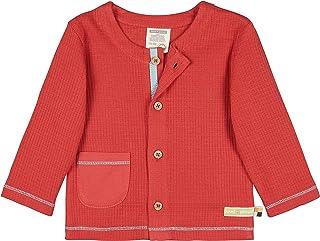 Loud + Proud Jacke Waffel, GOTS Zertifiziert Jacket, Chili, 98/104 Mixte bébé