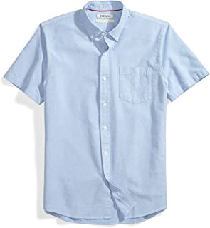 Amazon Brand - Goodthreads Men's Standard-Fit Short-Sleeve Solid Oxford Shirt